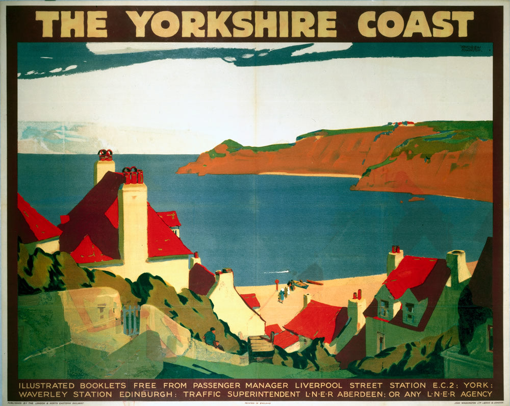 "The Yorkshire Coast 24"" x 32"" Matte Mounted Print"