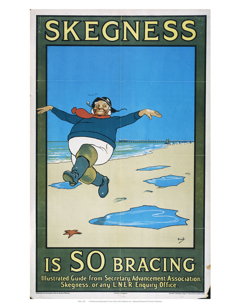 "Skegness is so Bracing 24"" x 32"" Matte Mounted Print"