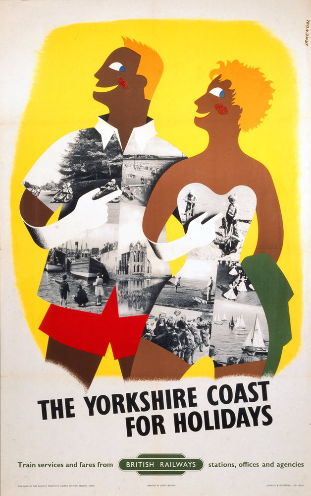"Yorkshire Coast for Holidays 24"" x 32"" Matte Mounted Print"
