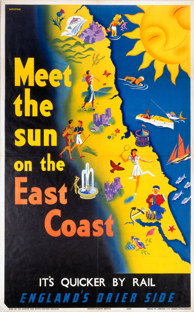 "Meet the Sun on the East Coast 24"" x 32"" Matte Mounted Print"
