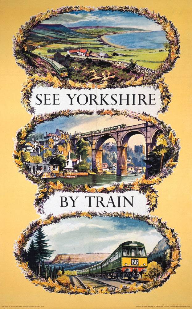 "See Yorkshire by Train 24"" x 32"" Matte Mounted Print"