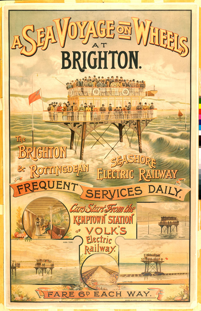 "The Sea Voyage on Wheels at Brighton 24"" x 32"" Matte Mounted Print"