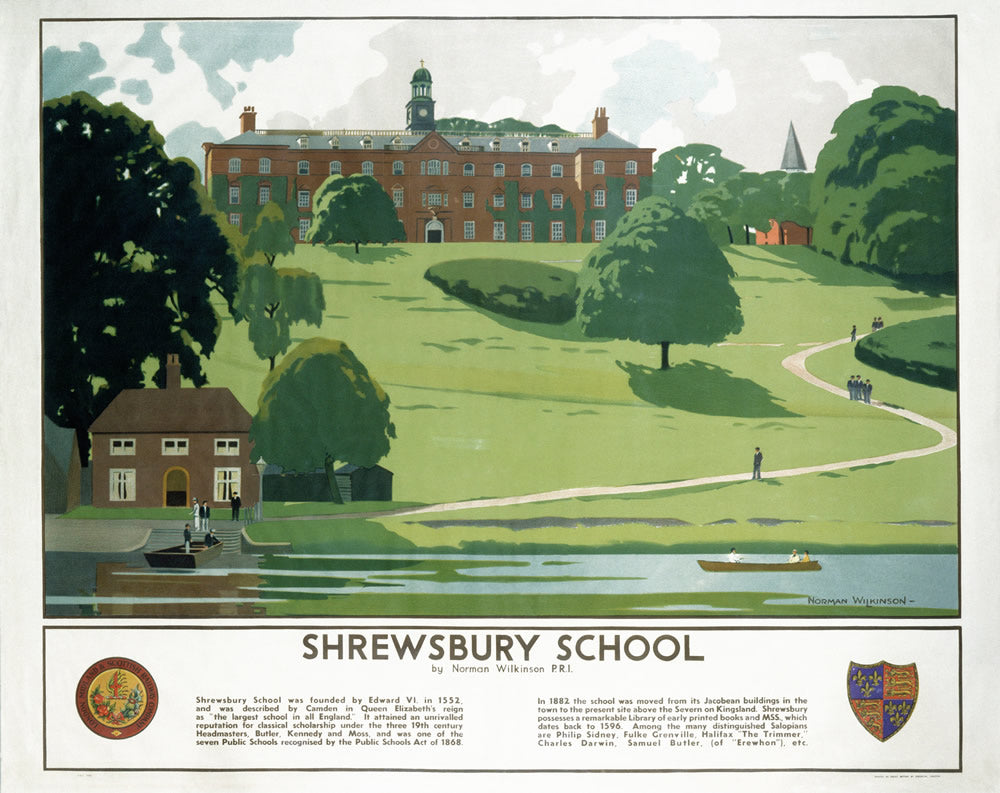 "Shrewsbury School 24"" x 32"" Matte Mounted Print"