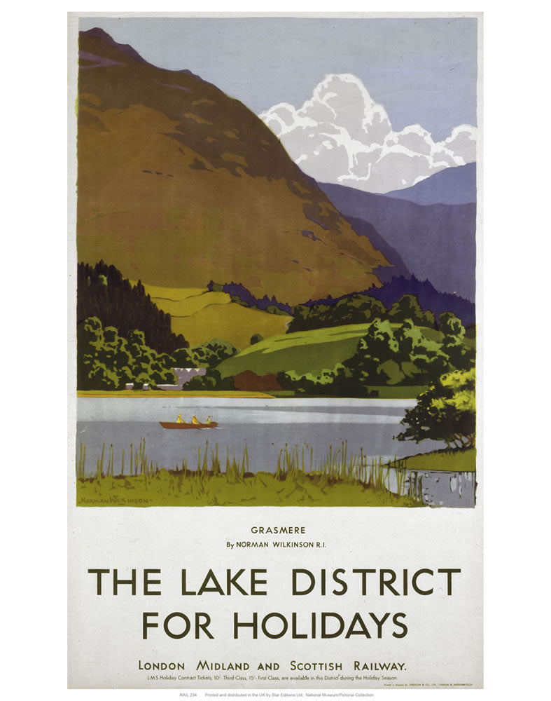 "Grasmere Lake District 24"" x 32"" Matte Mounted Print"