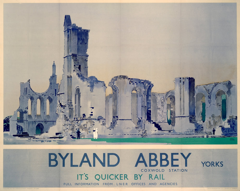 "Byland Abbey Coxwold Station Yorkshire 24"" x 32"" Matte Mounted Print"