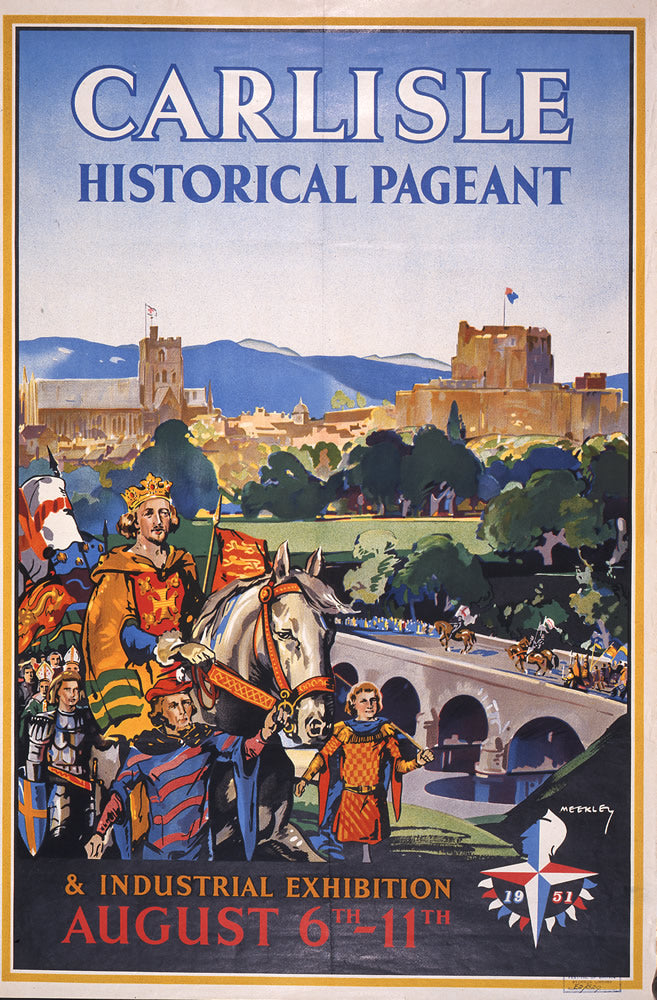 "Carlisle Historical Pageant 24"" x 32"" Matte Mounted Print"