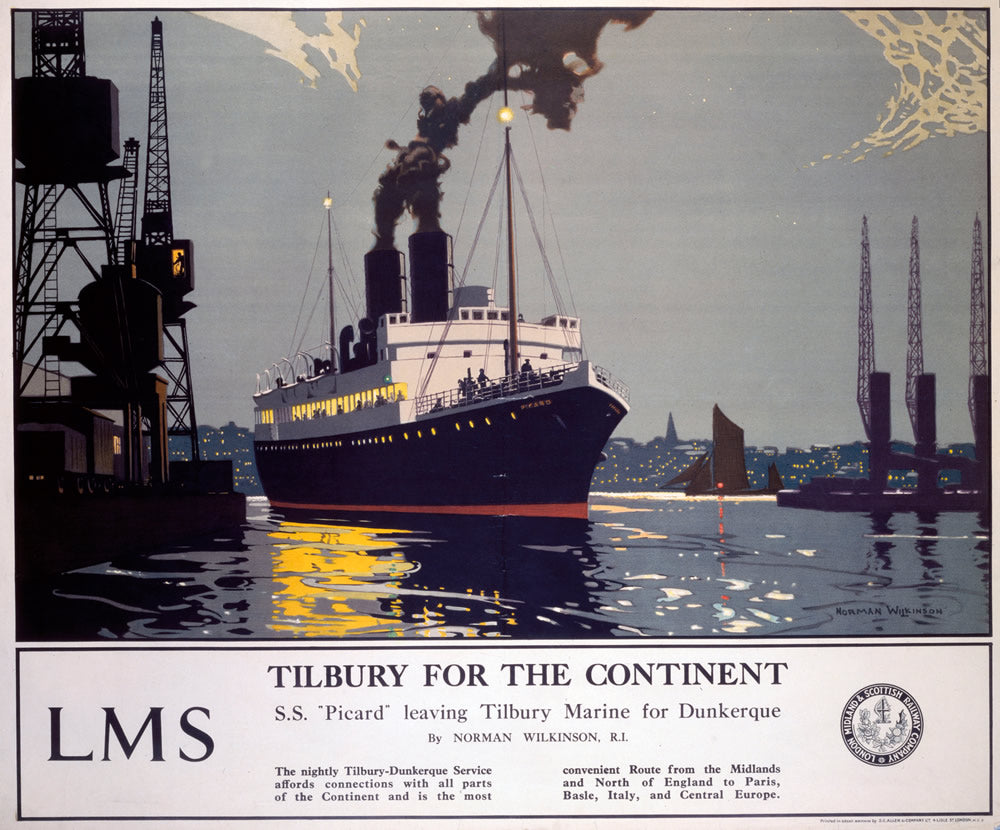 "Tilbury for the Continent 24"" x 32"" Matte Mounted Print"