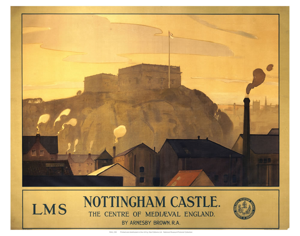 "Nottingham Castle 24"" x 32"" Matte Mounted Print"