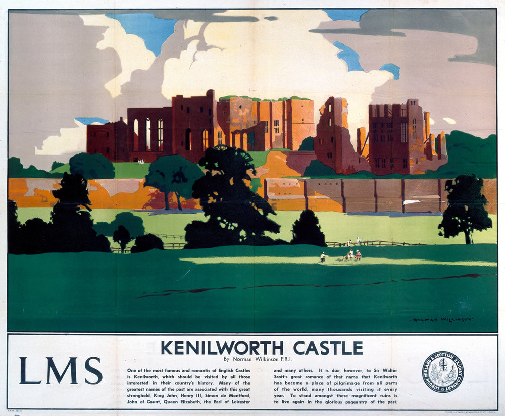 "Kenilworth Castle LMS 24"" x 32"" Matte Mounted Print"