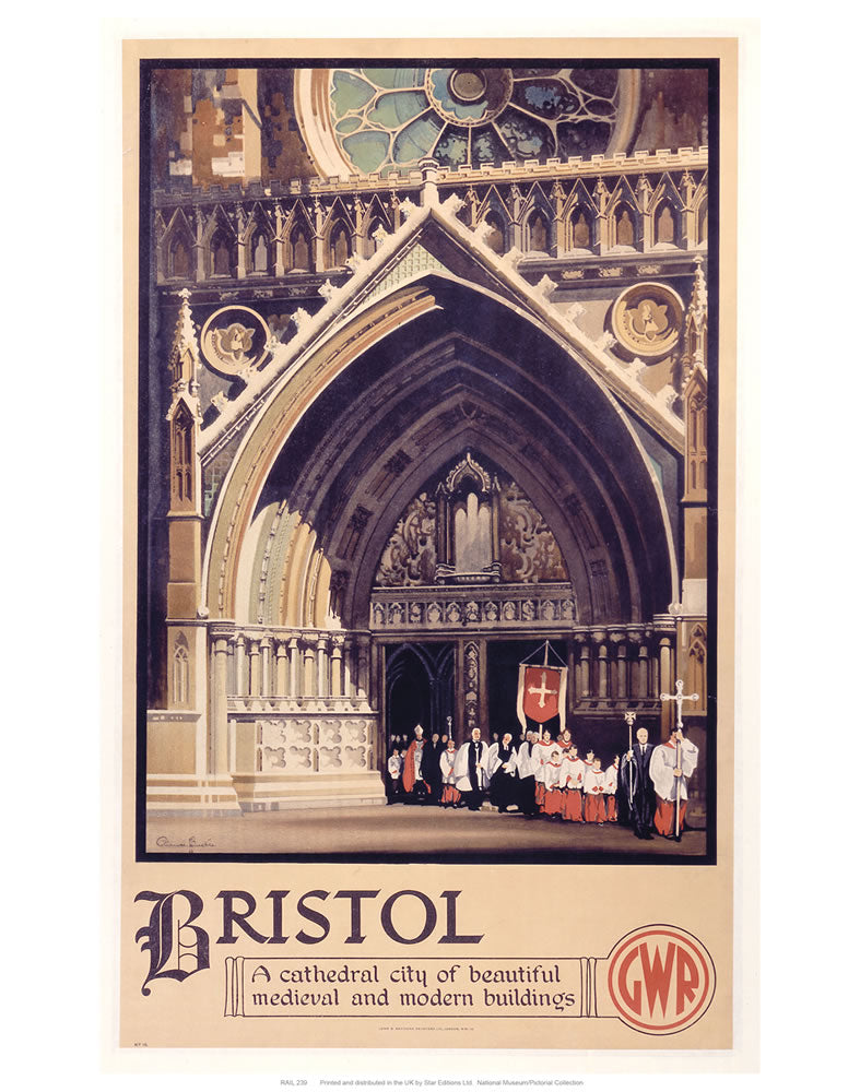 "Bristol Cathedral Choir 24"" x 32"" Matte Mounted Print"