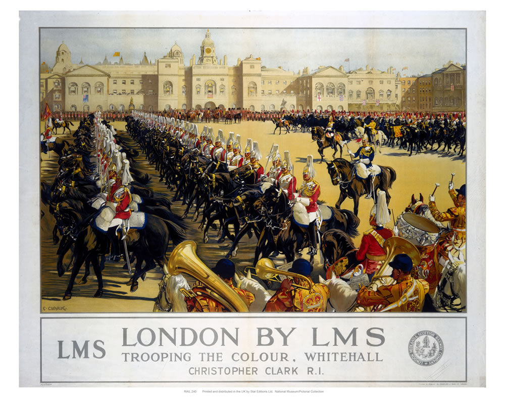 "Trooping the Colour London 24"" x 32"" Matte Mounted Print"