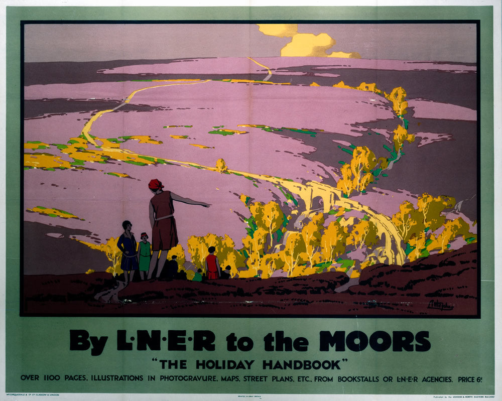 "By LNER to the Moors 24"" x 32"" Matte Mounted Print"