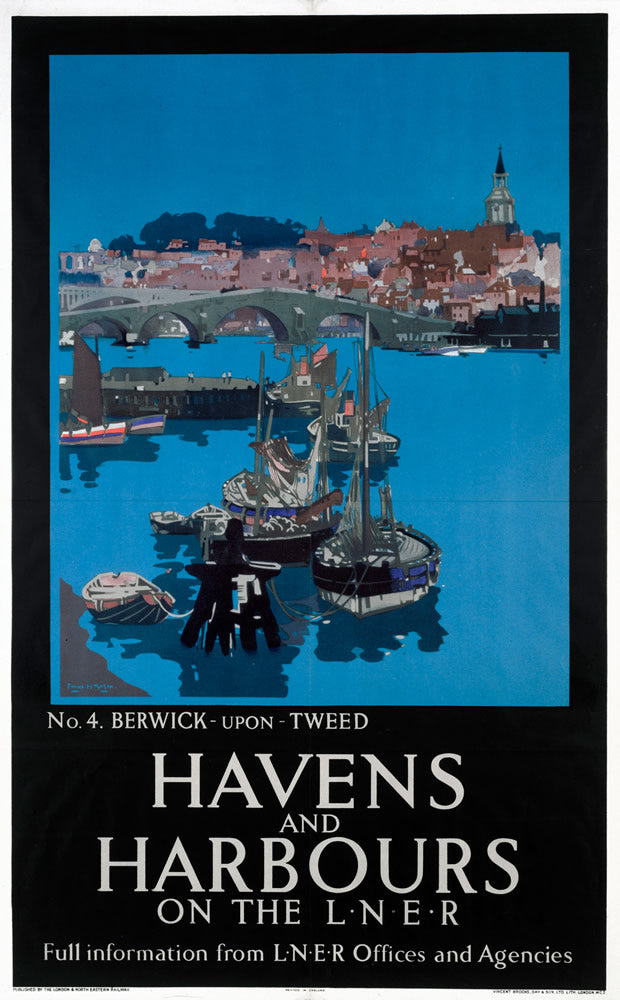 "Berwick upon Tweed Havens and Harbours LNER 24"" x 32"" Matte Mounted Print"