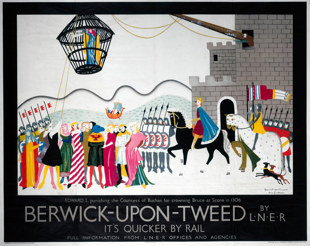 "Berwick upon Tweed by LNER 24"" x 32"" Matte Mounted Print"