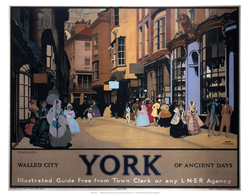 "Walled City York of Ancient Days 24"" x 32"" Matte Mounted Print"