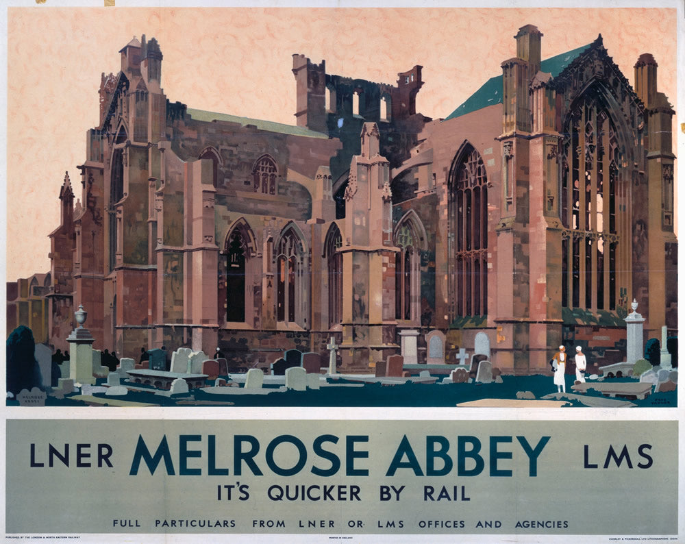 "Melrose Abbey LNER 24"" x 32"" Matte Mounted Print"