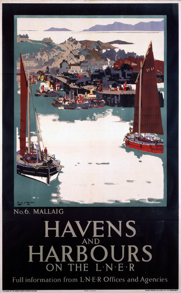 "Mallaig Havens and Harbours LNER 24"" x 32"" Matte Mounted Print"
