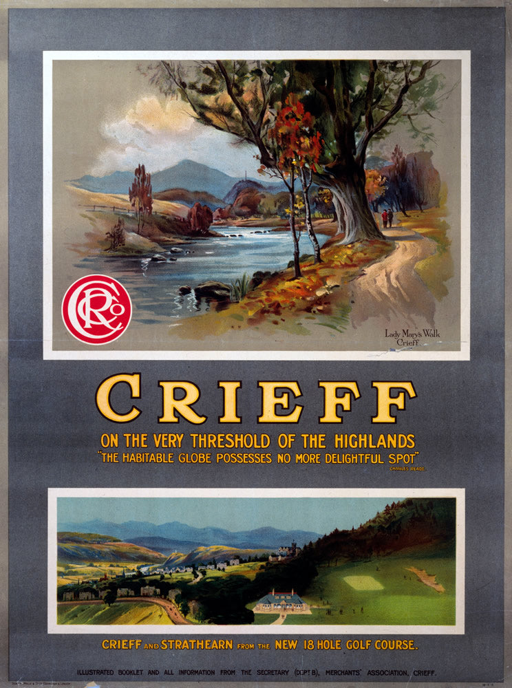 "Crieff and Strathearn Highlands 24"" x 32"" Matte Mounted Print"