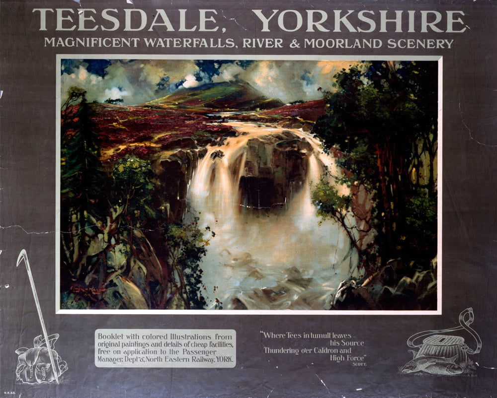 "Teesdale Yorkshire 24"" x 32"" Matte Mounted Print"