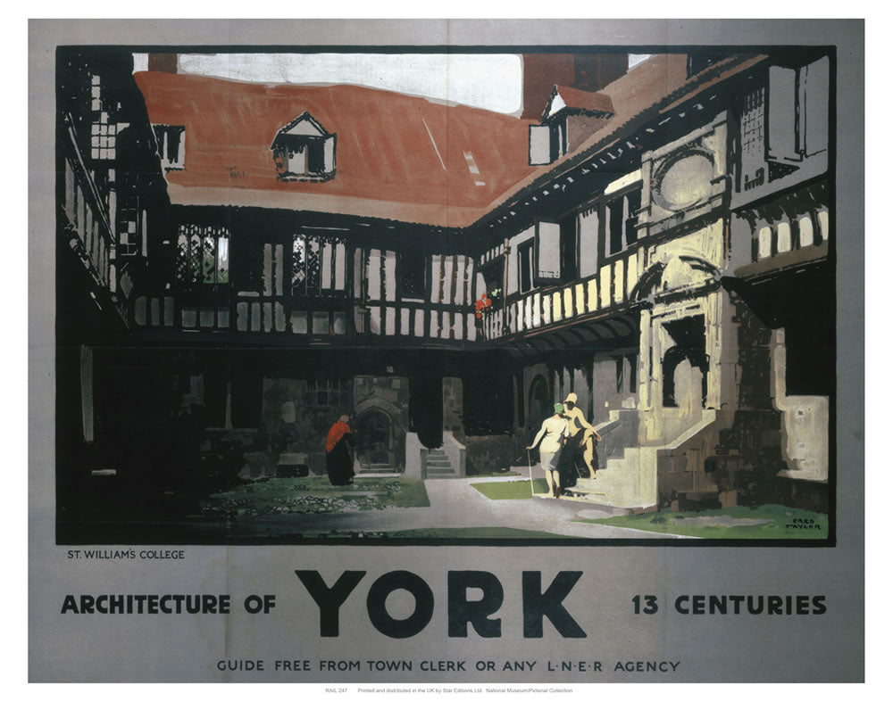 "Architecture of York 13 Centuries 24"" x 32"" Matte Mounted Print"