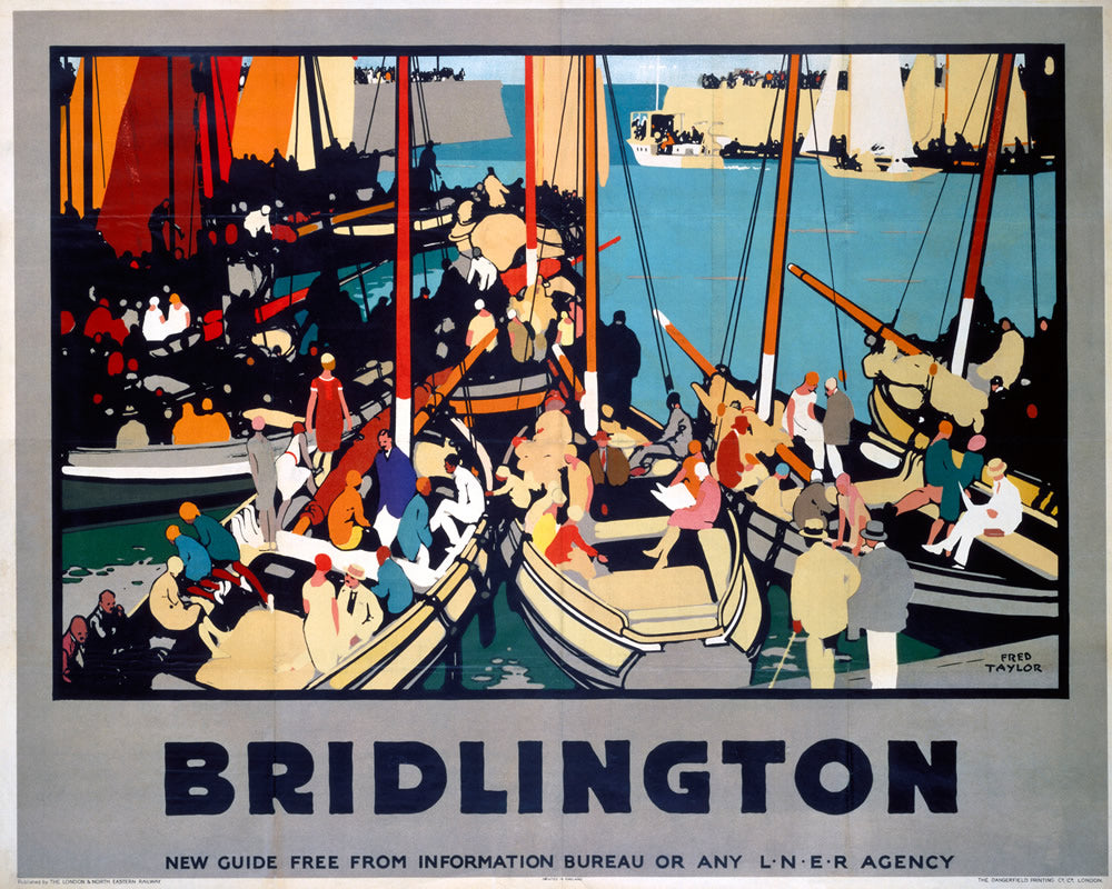 "Bridlington LNER 24"" x 32"" Matte Mounted Print"