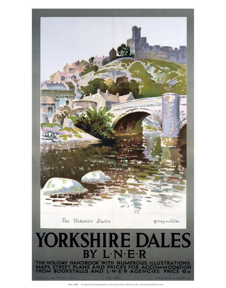 "Yorkshire Dales By LNER 24"" x 32"" Matte Mounted Print"