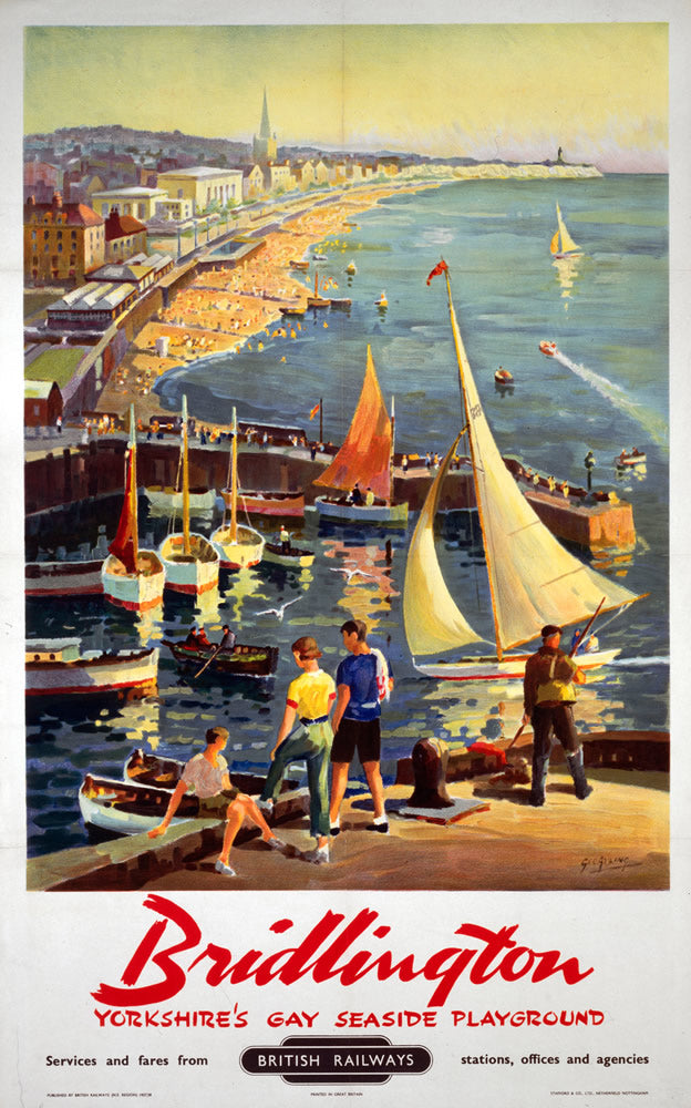 "Bridlington Yorkshire's Gay Seaside playground 24"" x 32"" Matte Mounted Print"
