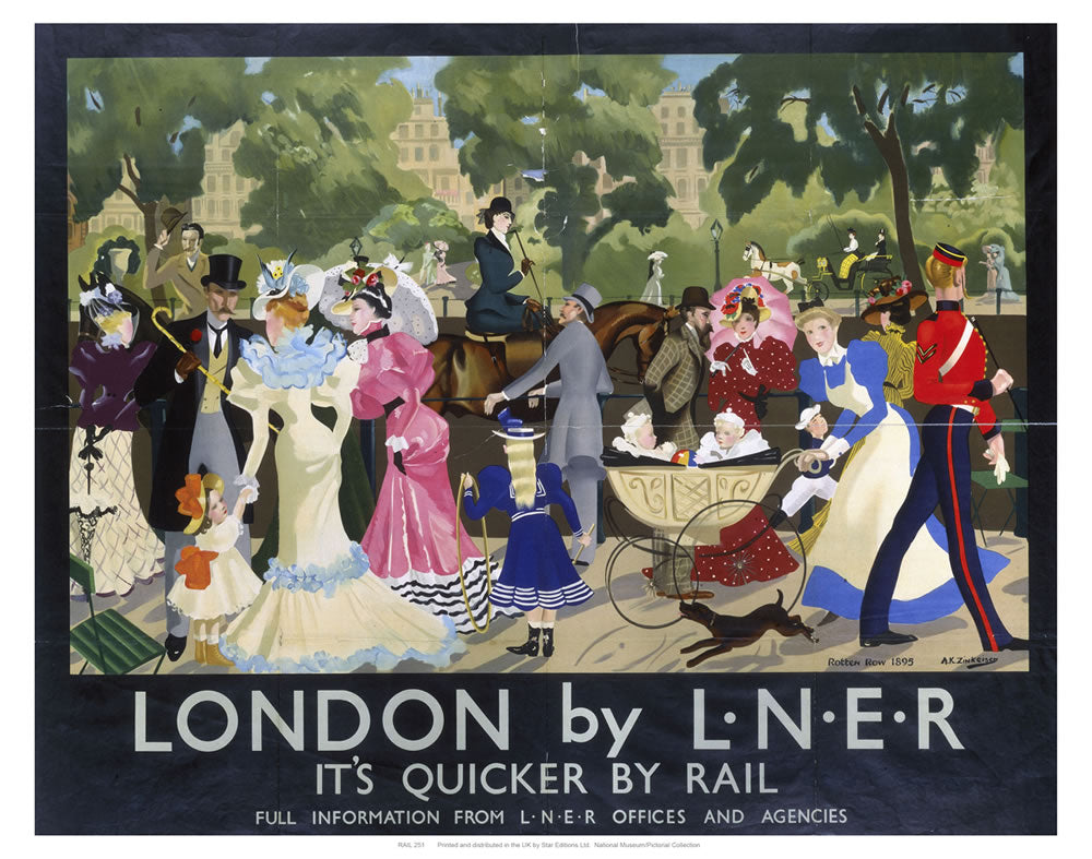 "London by L.N.E.R Park 24"" x 32"" Matte Mounted Print"