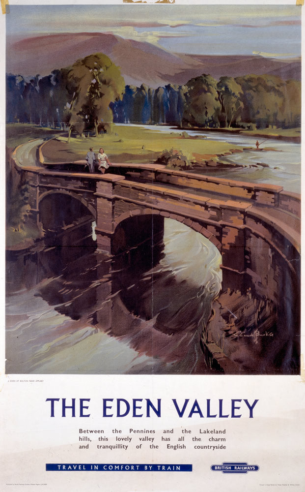 "The Eden Valley British Railways 24"" x 32"" Matte Mounted Print"