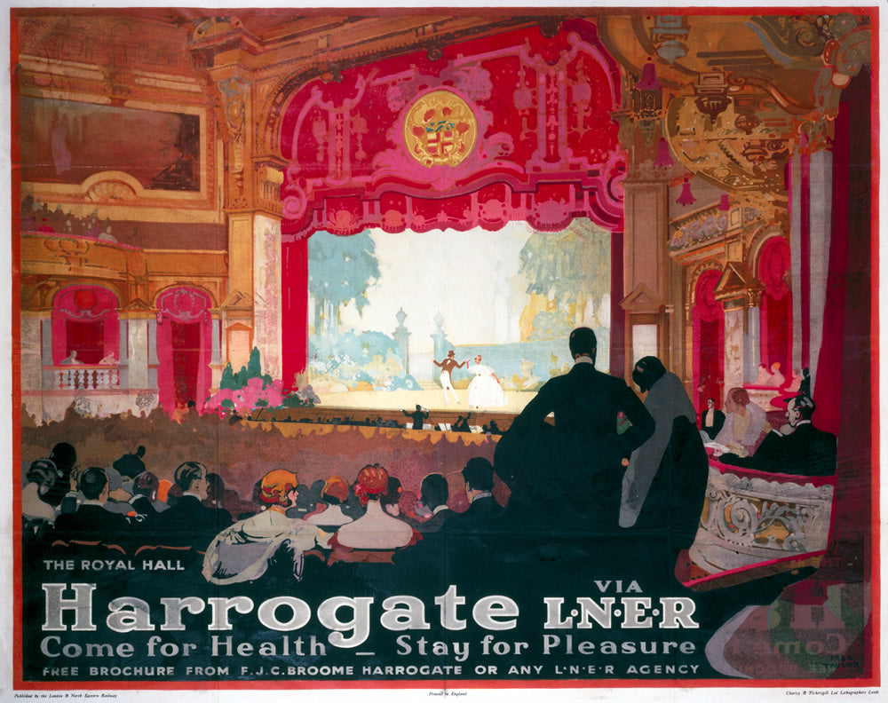 "Harrogate Come for Health Theatre LNER 24"" x 32"" Matte Mounted Print"