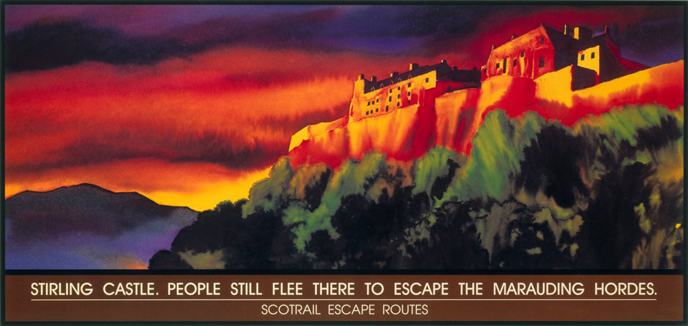 "Stirling Castle - Carriage art 24"" x 32"" Matte Mounted Print"