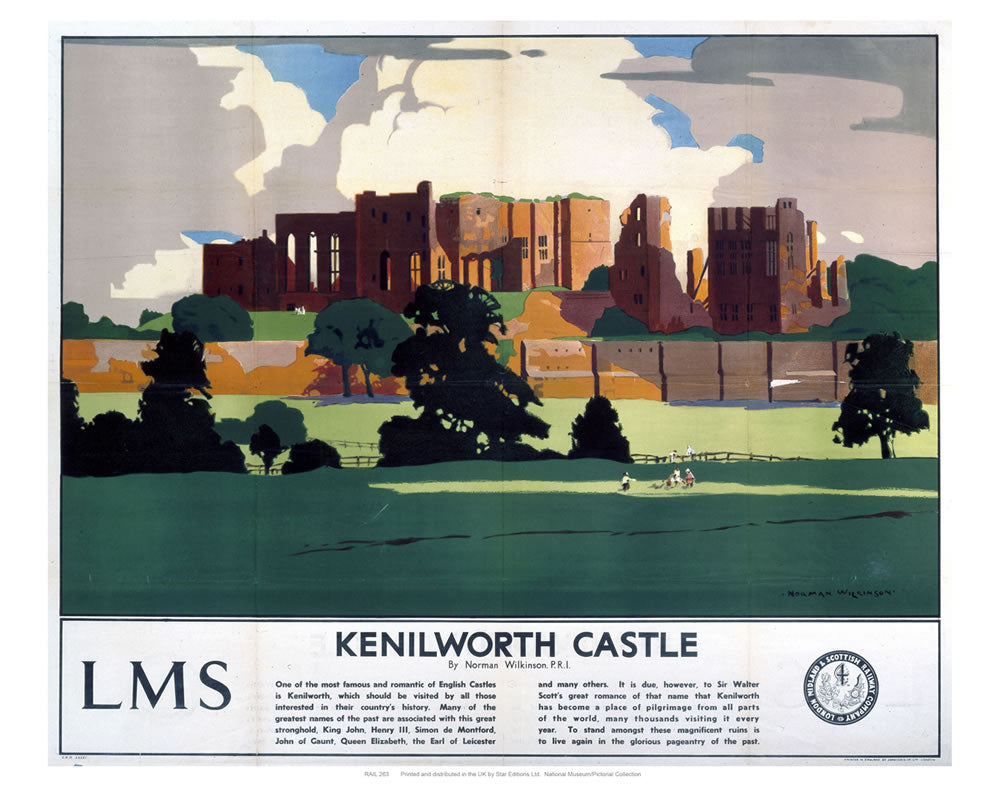 "Kenilworth castle 24"" x 32"" Matte Mounted Print"