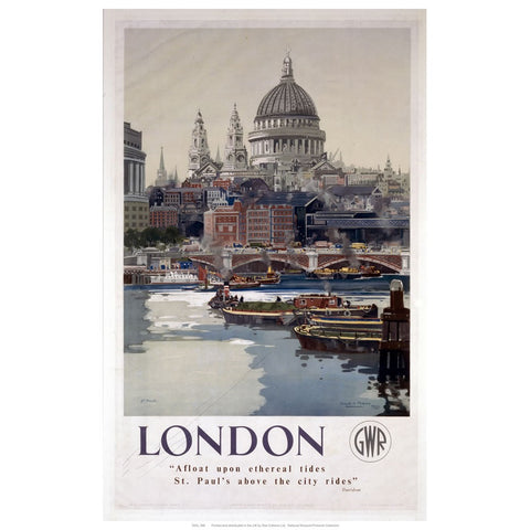 "London 24"" x 32"" Matte Mounted Print"