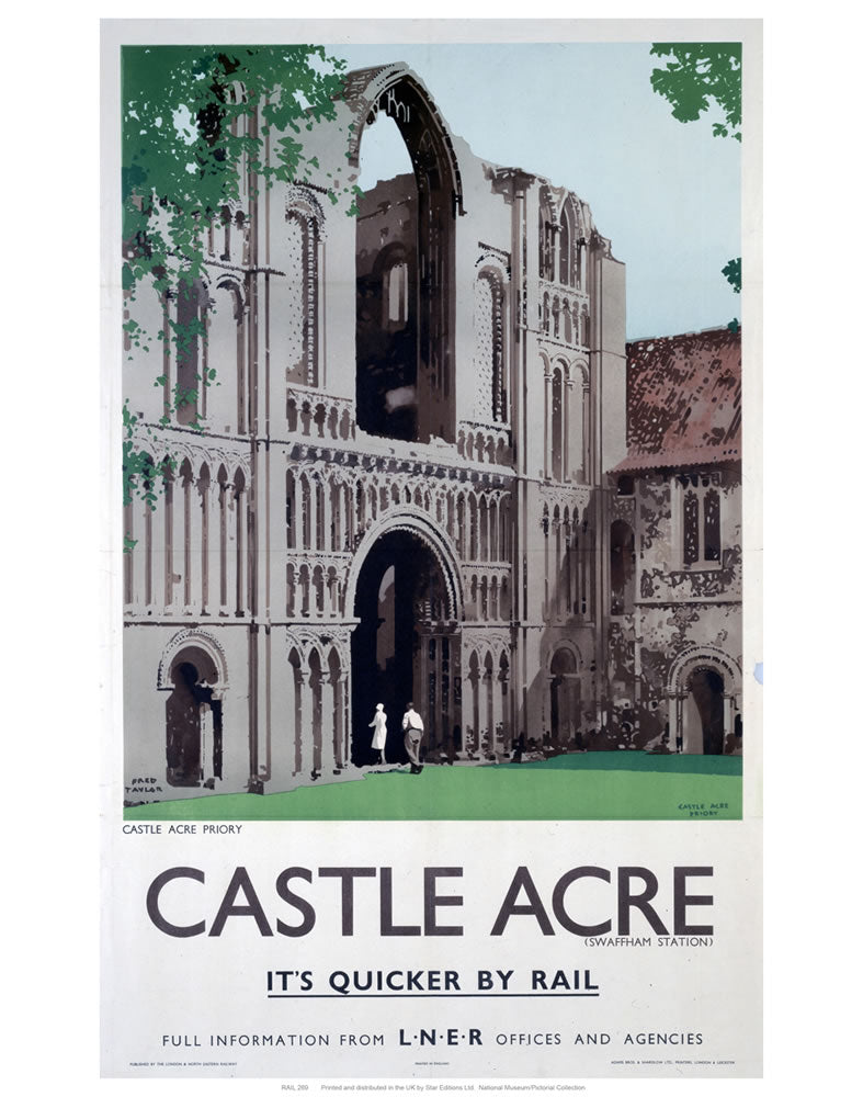 "Castle acre 24"" x 32"" Matte Mounted Print"