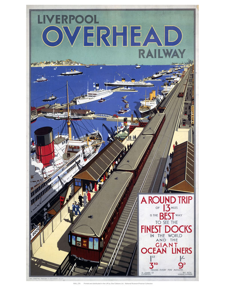"Liverpool overhead railways 24"" x 32"" Matte Mounted Print"