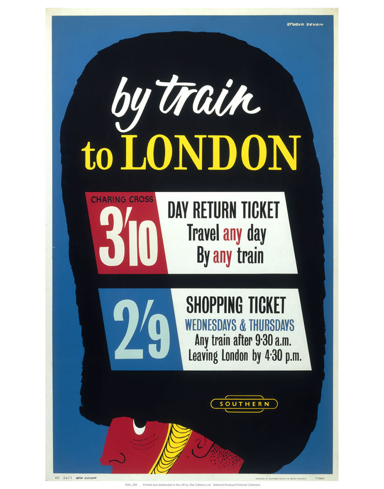 "By train to London 24"" x 32"" Matte Mounted Print"
