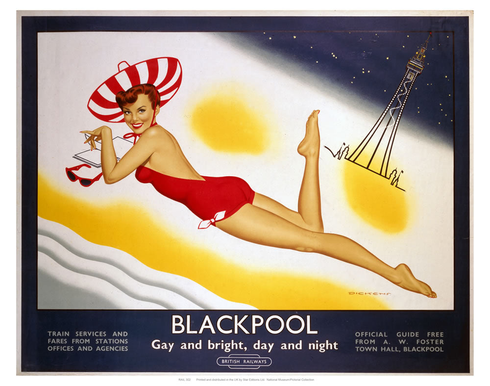 "Blackpool Gay and Bright 24"" x 32"" Matte Mounted Print"