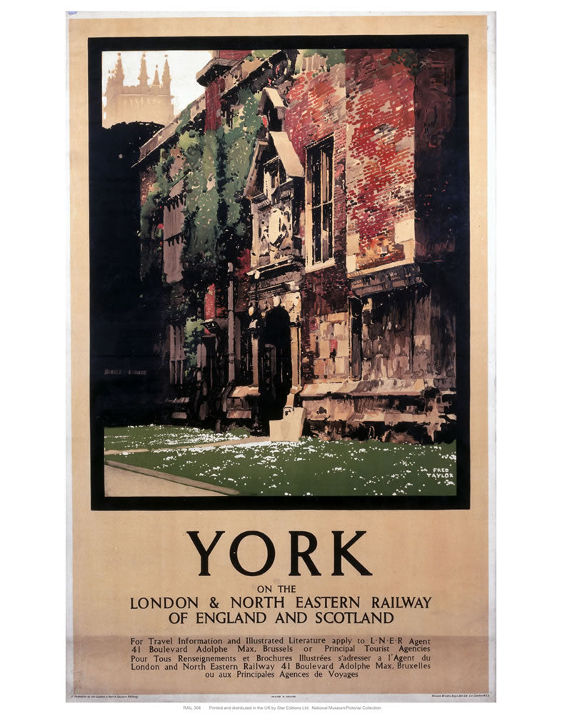 "York building 24"" x 32"" Matte Mounted Print"