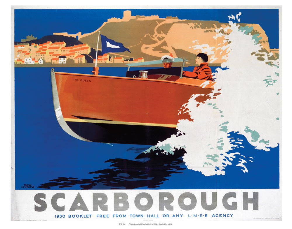 "Scarborough Speed Boat 24"" x 32"" Matte Mounted Print"