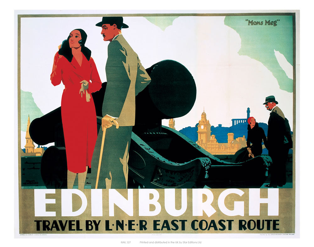 "Edinburgh Couple by Cannon 24"" x 32"" Matte Mounted Print"