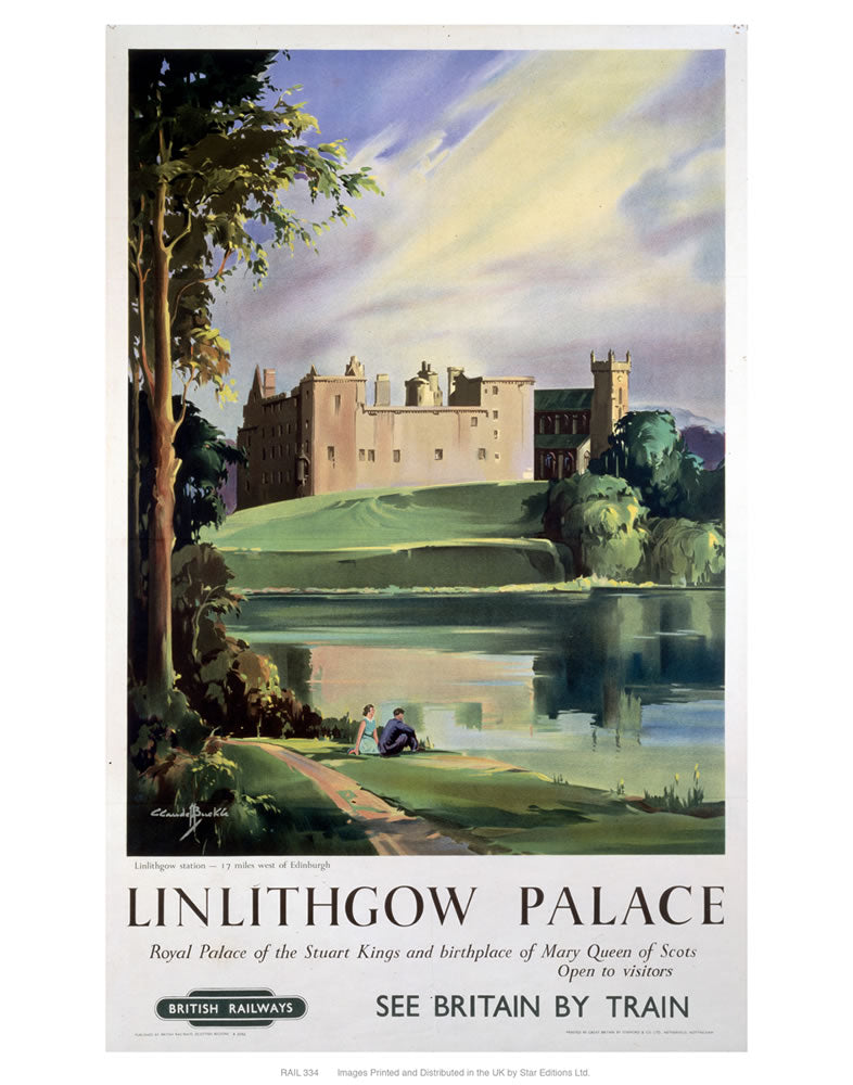 "Linlithgow Palace 24"" x 32"" Matte Mounted Print"