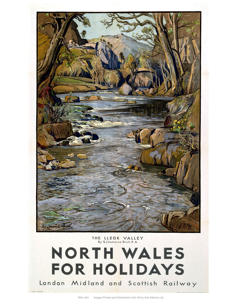 "North Wales 24"" x 32"" Matte Mounted Print"