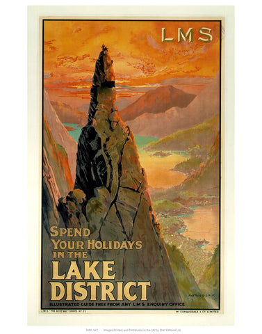 "Lake district LMS 24"" x 32"" Matte Mounted Print"