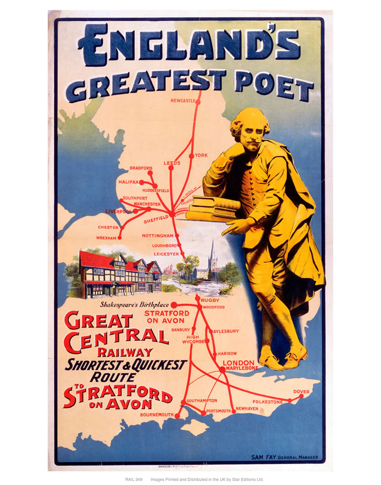 "England's greatest poet 24"" x 32"" Matte Mounted Print"