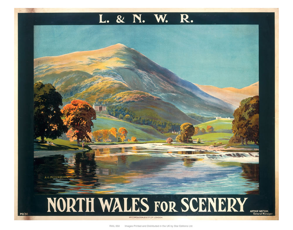 "North Wales for scenery 24"" x 32"" Matte Mounted Print"