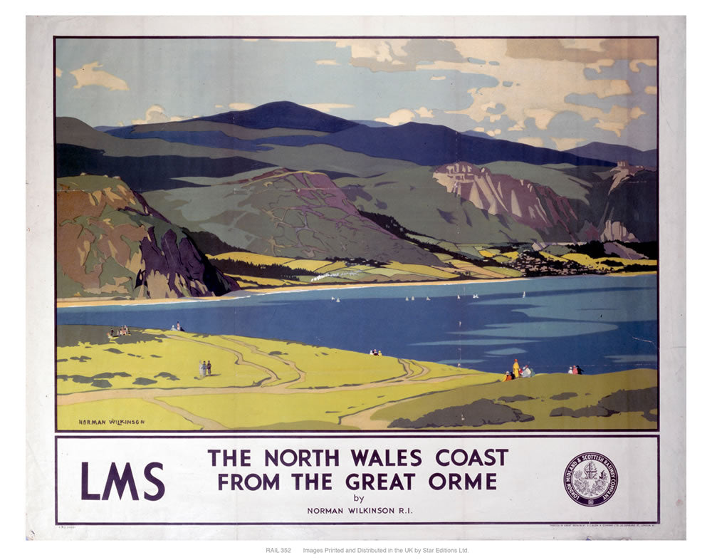 "The north Wales coast 24"" x 32"" Matte Mounted Print"