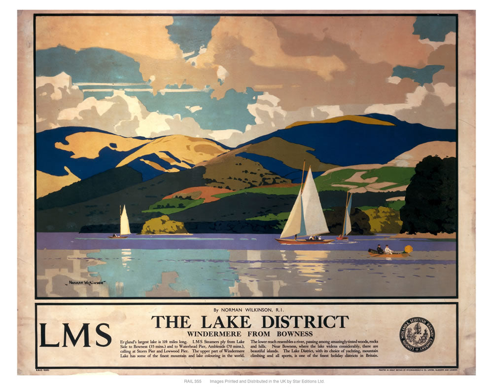 "The lake district 24"" x 32"" Matte Mounted Print"