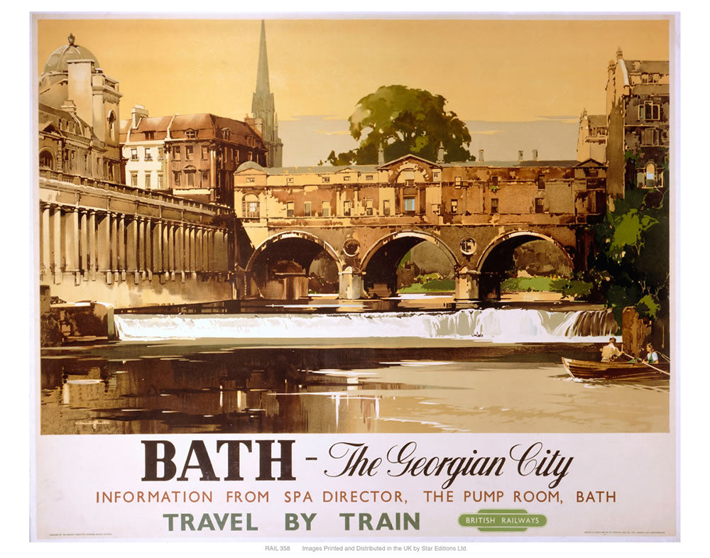 "Bath- the Georgian city 24"" x 32"" Matte Mounted Print"