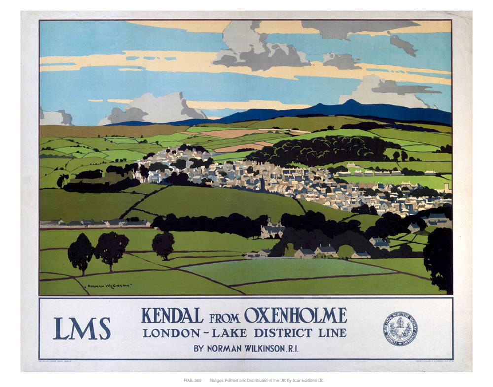 "Kendal from Oxenholme 24"" x 32"" Matte Mounted Print"