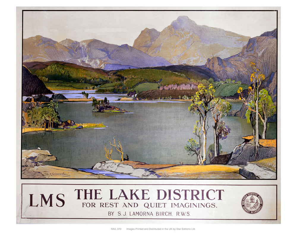 "The lake district LMS 24"" x 32"" Matte Mounted Print"
